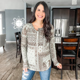 Paisley and Snap Button Top