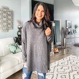 Brushed Thermal Cowl - Charcoal