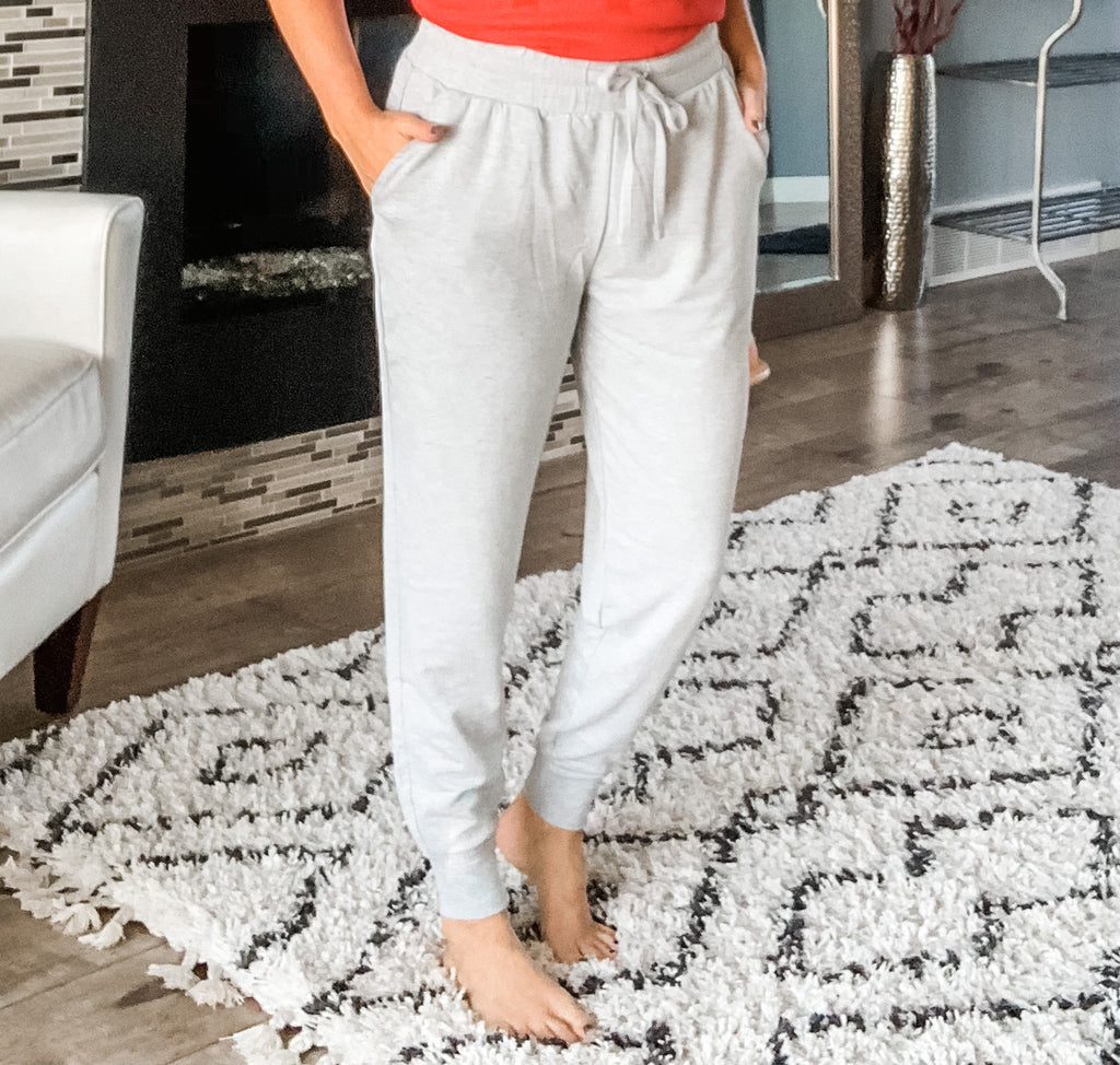 French Terry Joggers - Heather Gray