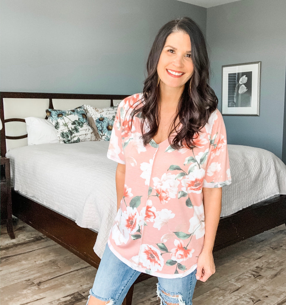 Floral and Stitch Top