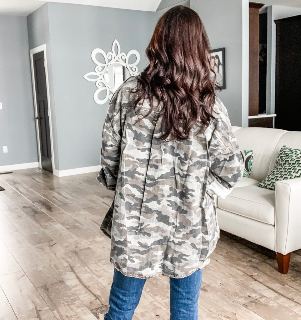Camouflage Button Shirt