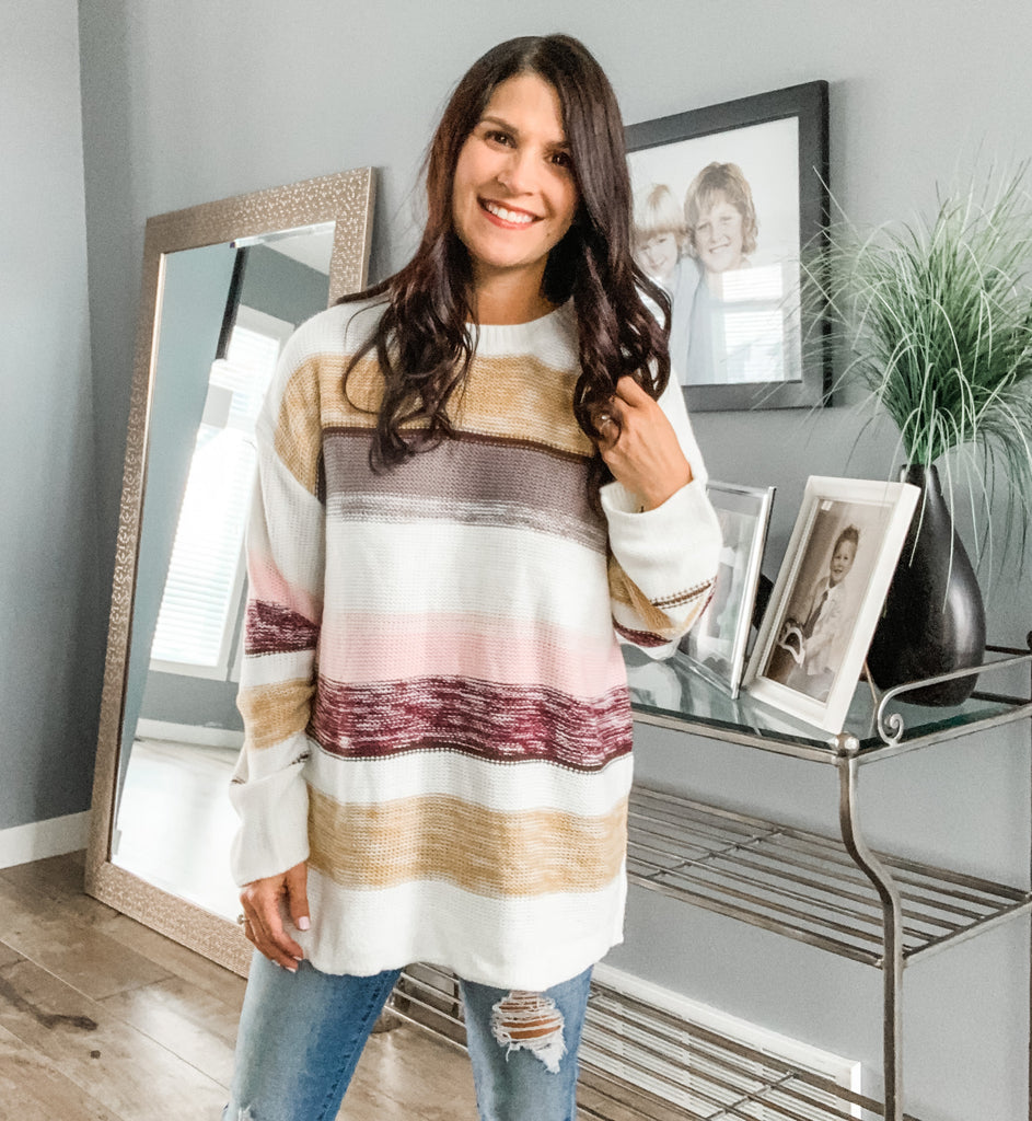 Hearts for Stripes Knit Sweater