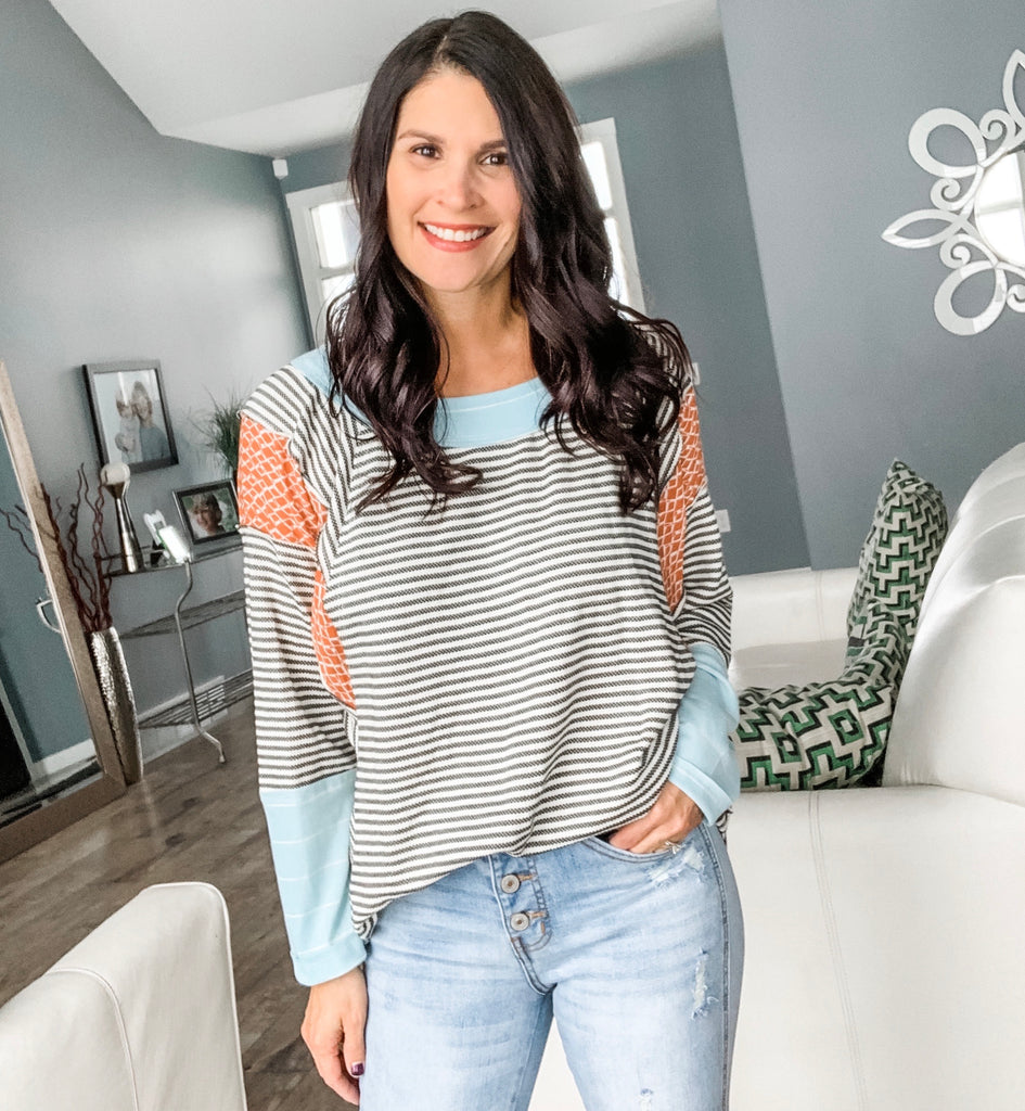 Party or Chill Stripe Top