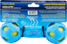 Load image into Gallery viewer, Nerf Dog Light Up LED Barbell Dog Toy, Medium - Canine's World