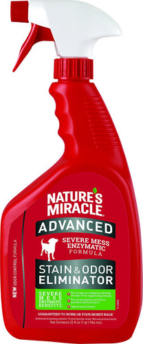 Canine's World 32 oz Pump Spray Bottle Natures Miracle Dog Stain Removers Nature's Miracle Advanced Stain & Odor Remover