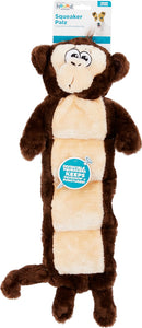 Canine's World Outward Hound Dog Stick Toys Outward Hound Invincibles Squeaker Palz Monkey Dog Toy