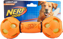 Load image into Gallery viewer, Nerf Dog Light Up Bash Barbell Dog Toy, Medium - Canine's World