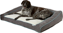 Load image into Gallery viewer, Canine's World Frisco Orthopedic Beds Frisco Ortho Textured Plush Bolster Sofa Dog Bed