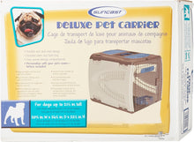 Load image into Gallery viewer, Suncast Deluxe Beige Brown Pet Carrier - Canine's World