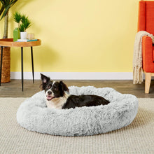 Load image into Gallery viewer, Best Friends by Sheri Luxury Shag Donut Self-Heating Orthopedic Dog Bed,  - Canine's World Best Friends by Sheri Frost / Medium Orthopedic Beds