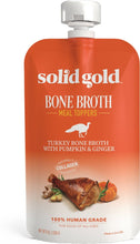 Load image into Gallery viewer, Solid Gold Turkey Bone Broth with Pumpkin & Ginger Dog Food Topper, 8-oz pouch - Canine's World