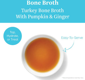 Solid Gold Turkey Bone Broth with Pumpkin & Ginger Dog Food Topper, 8-oz pouch - Canine's World