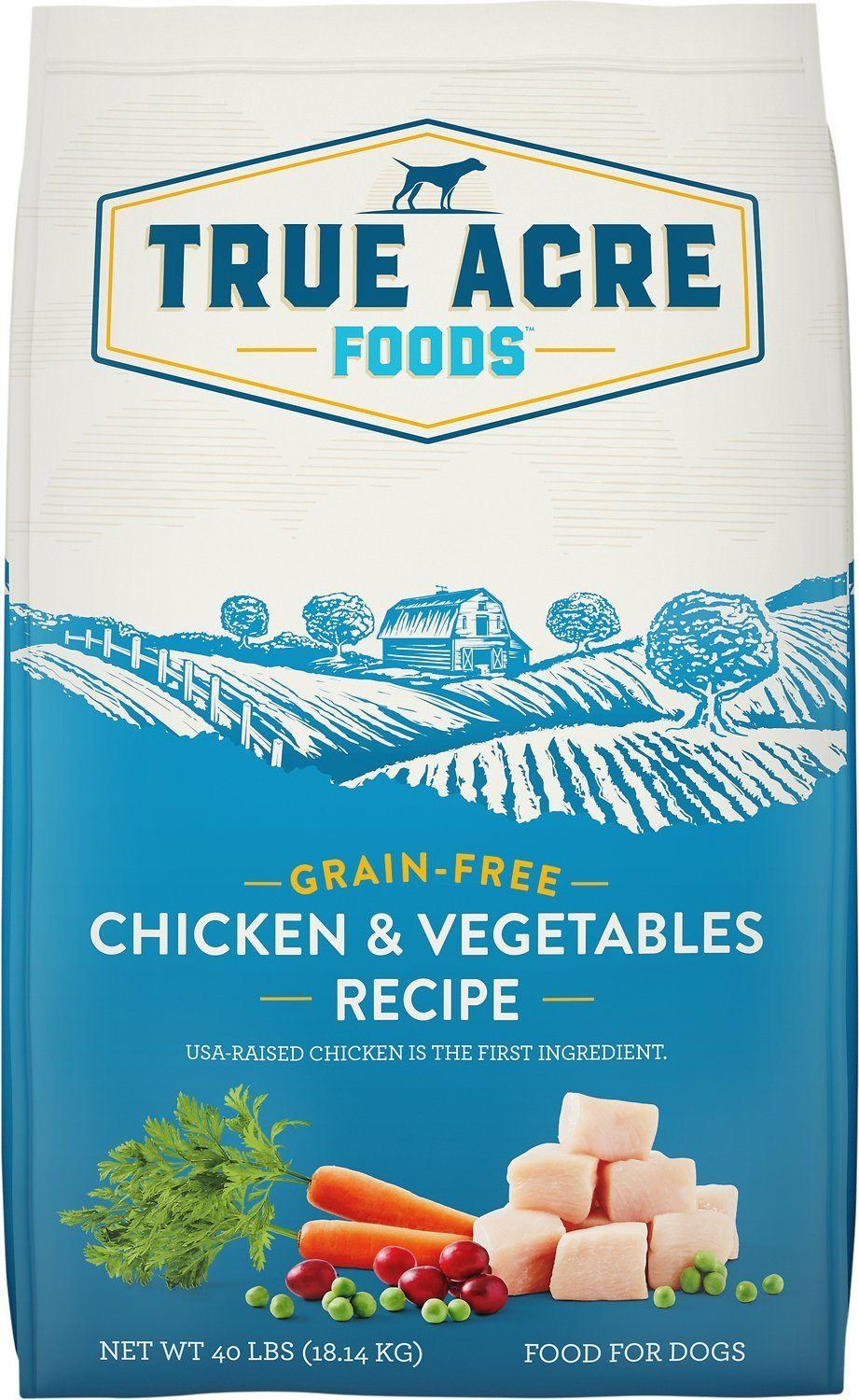True Acre Foods Chicken & Vegetable Recipe Grain-Free Dry Dog Food,  - Canine's World