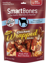 Load image into Gallery viewer, SmartBones Mini Chicken Wrapped Sticks Chicken Flavor Dog Treats, 15 count - Canine's World