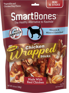SmartBones Mini Chicken Wrapped Sticks Chicken Flavor Dog Treats, 15 count - Canine's World