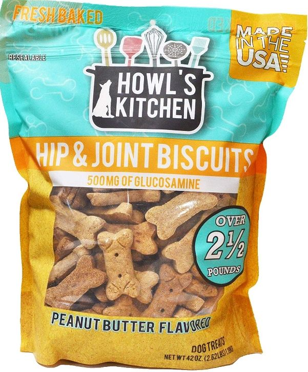Howls Kitchen Hip & Joint Biscuits - Peanut Butter - Canine's World