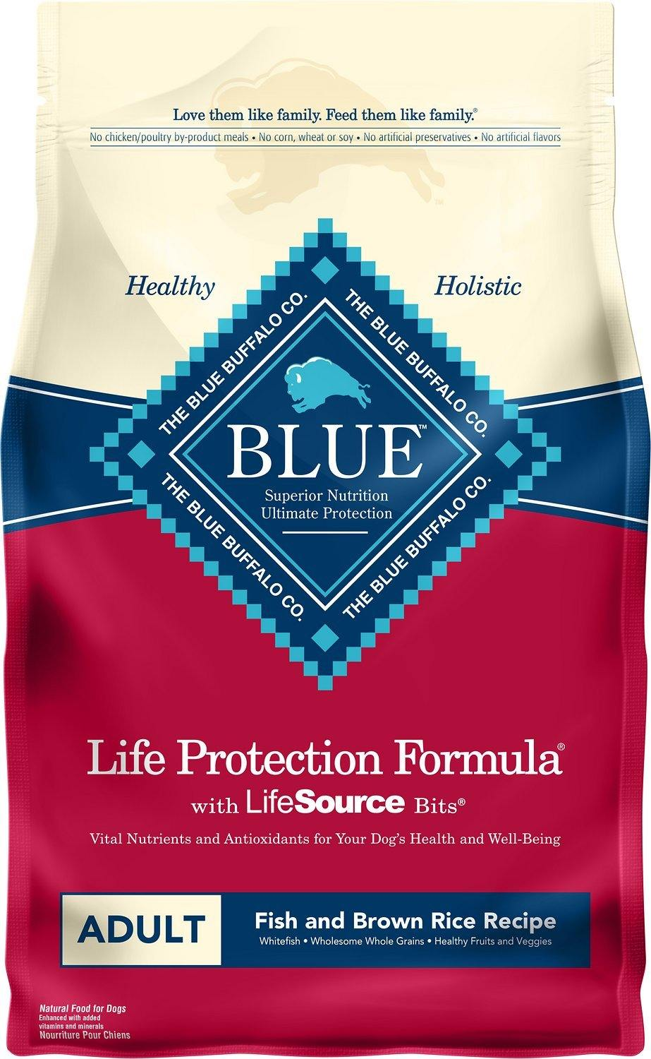 Blue Buffalo Life Protection Formula Adult Fish & Brown Rice Recipe Dry Dog Food,  - Canine's World Blue Buffalo 6-LB Bag Dry Dog Food