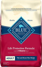 Load image into Gallery viewer, Blue Buffalo Life Protection Formula Adult Fish & Brown Rice Recipe Dry Dog Food,  - Canine's World Blue Buffalo 30-LB Bag Dry Dog Food