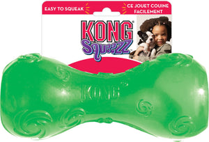 KONG Squeezz Dumbbell Dog Toy, Color Varies,  - Canine's World