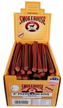 "Load image into Gallery viewer, Smokehouse Pepperoni Stix 8"" Dog Treat with Display Box - Canine's World"