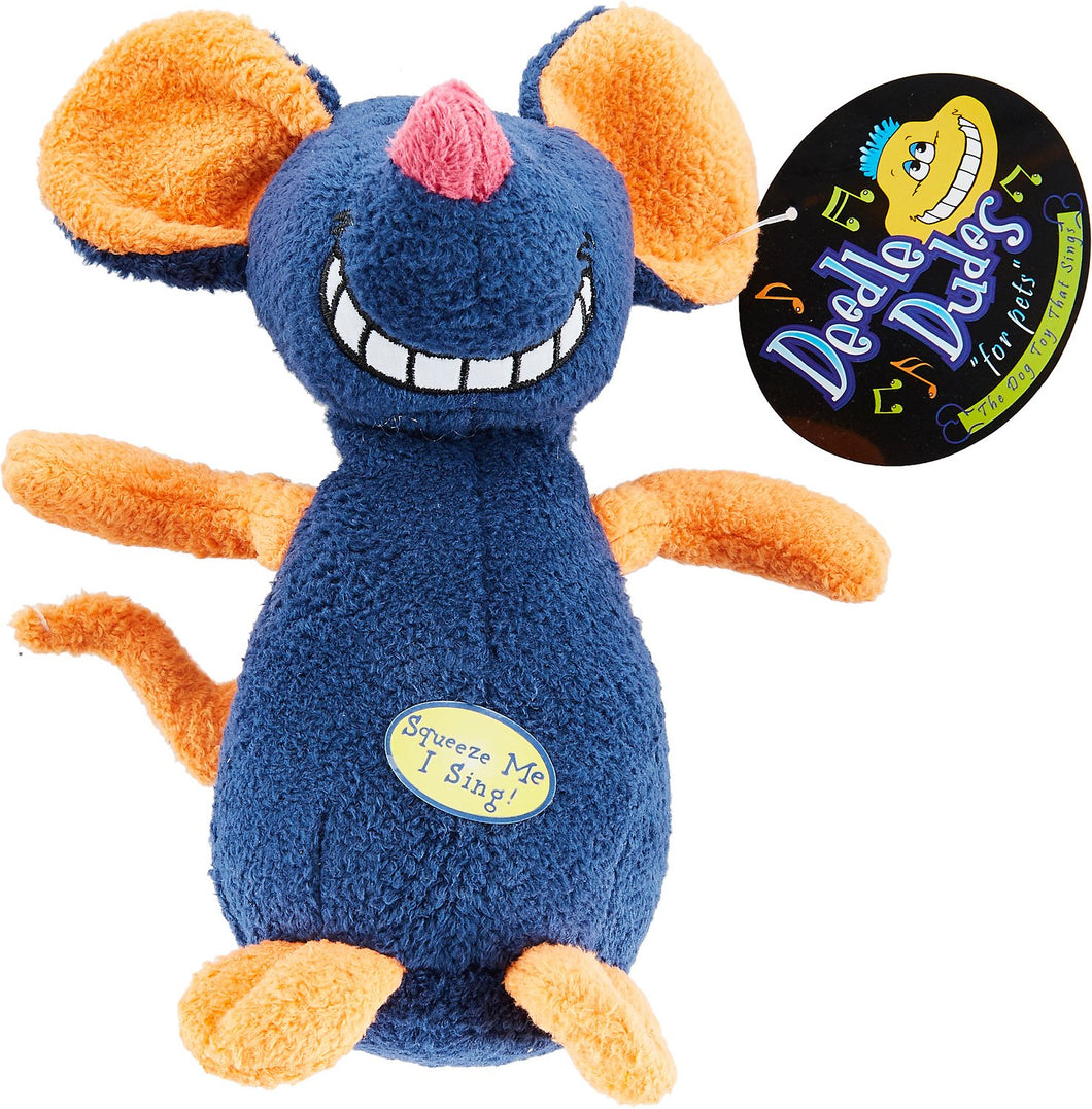 Multipet Deedle Dude Singing Plush Dog Toy, - Canine's World