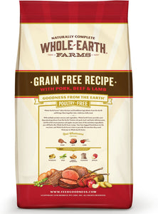 Whole Earth Farms Grain-Free Pork, Beef & Lamb Recipe Dry Dog Food - Canine's World