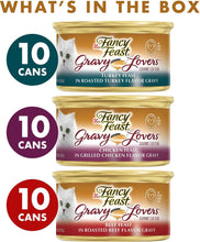Load image into Gallery viewer, Fancy Feast Gravy Lovers Poultry & Beef Feast Variety Pack Canned Cat Food, - Canine's World
