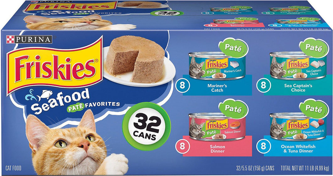 Friskies Classic Pate Seafood Variety Pack Canned Cat Food,  - Canine's World
