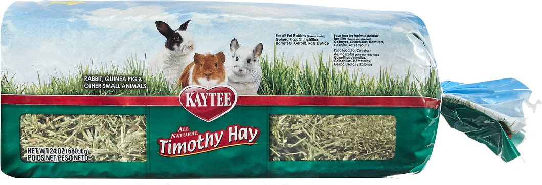 Canine's World 24- Oz Bag Kaytee Rabbit Food Kaytee Natural Timothy Hay Small Animal Food