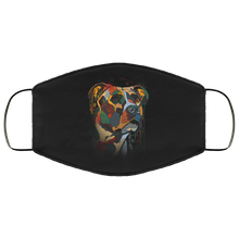 Load image into Gallery viewer, Canine's World Black / One Size Ultimate Shield Face Masks Hand painted pitbull human Face Mask