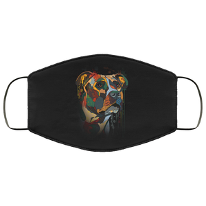 Canine's World Black / One Size Ultimate Shield Face Masks Hand painted pitbull human Face Mask