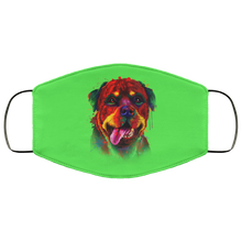 Load image into Gallery viewer, Canine's World Kelly / One Size Ultimate Shield Face Masks Hand painted rottweiler human Face Mask