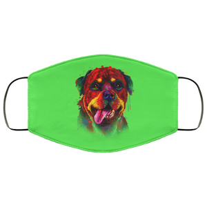 Canine's World Kelly / One Size Ultimate Shield Face Masks Hand painted rottweiler human Face Mask