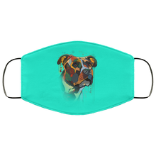 Load image into Gallery viewer, Canine's World Turquoise / One Size Ultimate Shield Face Masks Hand painted pitbull human Face Mask