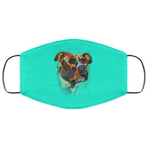 Canine's World Turquoise / One Size Ultimate Shield Face Masks Hand painted pitbull human Face Mask