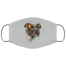 Load image into Gallery viewer, Canine's World Silver / One Size Ultimate Shield Face Masks Hand painted pitbull human Face Mask
