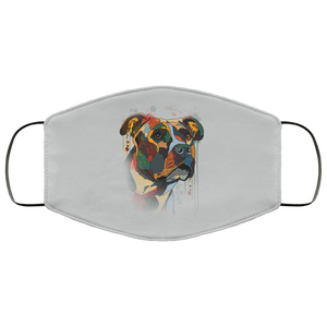 Canine's World Silver / One Size Ultimate Shield Face Masks Hand painted pitbull human Face Mask