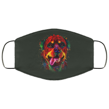Load image into Gallery viewer, Canine's World Forest / One Size Ultimate Shield Face Masks Hand painted rottweiler human Face Mask