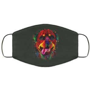 Canine's World Forest / One Size Ultimate Shield Face Masks Hand painted rottweiler human Face Mask