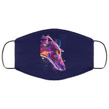 Load image into Gallery viewer, Hand painted greyhound human Face Mask - Canine's World