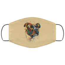 Load image into Gallery viewer, Canine's World Tan / One Size Ultimate Shield Face Masks Hand painted pitbull human Face Mask