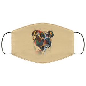 Canine's World Tan / One Size Ultimate Shield Face Masks Hand painted pitbull human Face Mask