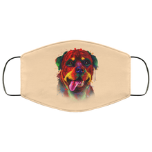 Load image into Gallery viewer, Canine's World Vegas Gold / One Size Ultimate Shield Face Masks Hand painted rottweiler human Face Mask