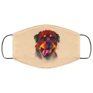 Canine's World Vegas Gold / One Size Ultimate Shield Face Masks Hand painted rottweiler human Face Mask