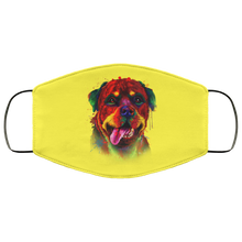 Load image into Gallery viewer, Canine's World Yellow / One Size Ultimate Shield Face Masks Hand painted rottweiler human Face Mask