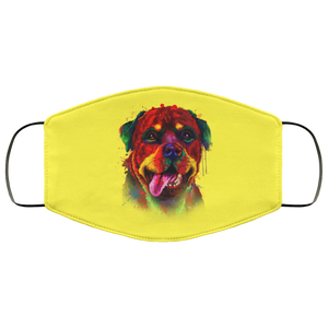 Canine's World Yellow / One Size Ultimate Shield Face Masks Hand painted rottweiler human Face Mask