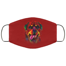 Load image into Gallery viewer, Canine's World Burgundy / One Size Ultimate Shield Face Masks Hand painted rottweiler human Face Mask