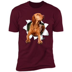 Canine's World Ultimate Shield T-Shirts VIZSLA 3D Premium Short Sleeve T-Shirt