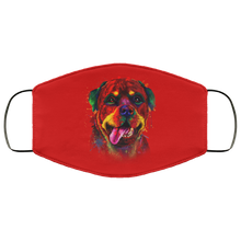 Load image into Gallery viewer, Canine's World Red / One Size Ultimate Shield Face Masks Hand painted rottweiler human Face Mask