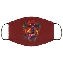 Load image into Gallery viewer, Canine's World Maroon / One Size Ultimate Shield Face Masks Hand painted rottweiler human Face Mask